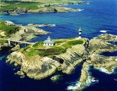 Faro de Isla Pancha, en Ribadeo, Lugo San Damian, Celtic Nations, Isle Of Man, Illa, Scotland, Ireland, Wonderland, Places, Hotels
