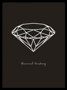 Vit diamant på svart bakgrund