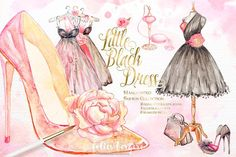 Little Black Dress Fashion Clipart by Karamfila on @creativemarket