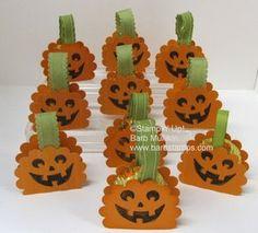 Little Scallop Pumpkin Treats - Barbstamps!! Barb Mullikin Stampin' Up! Demonstrator
