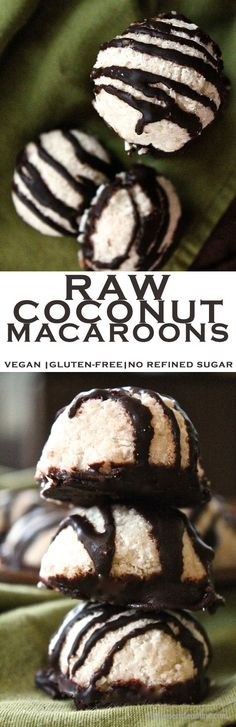 Looking for a healthy, yet decadent treat? How about these raw Coconut Macaroons? Vegan, gluten-free, and free of refined sugar! Click the photo for the full recipe.
