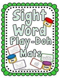 Sight Word Play-Doh Mats Sight word play doh mats are perfect for hands-on exploration with sight words using the first 100 words from the Fry list. Sight Word Spelling, Sight Word Practice, Sight Word Games, Word Play, Play Doh Fun, Play Dough, Word Wall Activities, Literacy Activities, Alphabet Activities