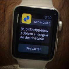 Baixe o aplicativo SRO-CORREIOS e receba as notificações de suas encomendas no seu pulso.  Curta nossa página no Facebook: http://www.facebook.com/WatchDicas #WatchDicas #WatchTips #WatchIdeas #AppleWatch by watchdicas
