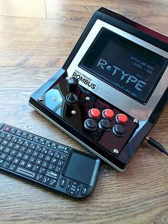 Rombus3000 - A Raspberry Pi mini arcade machine fit inside a classic 80s desktop arcade game housing