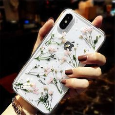 Real Dried Flower iPhone Case | #iphonexsmax #iphonexs #iphonexr #iphonex #smartphonejack Diy Iphone Case, Iphone 8, Glitter Iphone 6 Case, Iphone Hacks, Coque Iphone, Iphone 7 Plus Cases, Apple Iphone, Iphone Charger, Iphone Camera