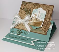 Stampin up Traveler stamp set Oct 2014 Fun Fold Cards, Pop Up Cards, Folded Cards, Cards For Men, Boy Cards, Masculine Birthday Cards, Masculine Cards, Nautical Cards, Travel Cards
