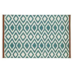 Check out this item at One Kings Lane! Livvy Flat-Weave Rug, Turquoise