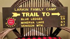 Personalized adirondack trailhead sign! Www.adirondackjims.com