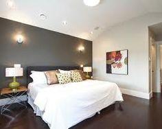 grey accent wall bedroom -