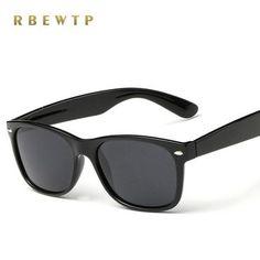 81bf500e4977 RBEWTP 2018 Fashion Polarized Sunglasses Men Driving Mirror Coating Points  Black Frame shades Eyewear Male Sun