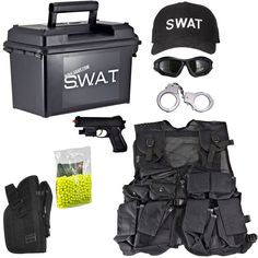 Kids-Army.com - Kids SWAT Airsoft Ammo Can Set, $65.99 (http://www.kids-army.com/spy-academy-police-officer-metal-handcuffs/)