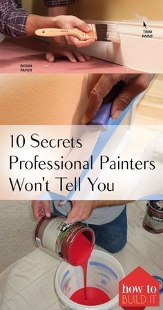 10 Secrets Professional Painters Won't Tell You. Painting Tips and Tricks, Painting Secrets from Professional Painters, Painting Hacks, Painting Popular Pin. Secrets from professional painters. Tips And Tricks, Home Improvement Projects, Home Projects, Home Renovation, Home Remodeling, Diy Painting, Painting Hacks, House Painting Tips, Painting A Bedroom