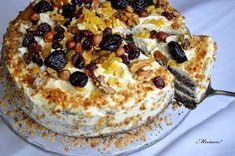 Mniam: Tort makowy z kremem waniliowym i nutą pomarańczy Toffee, Sticky Toffee, Candy