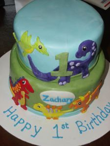 Dinosaur First Birthday Cake