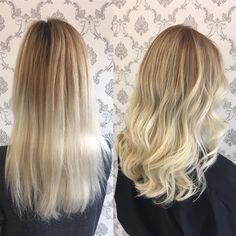 Balayage blonde Hair olaplex