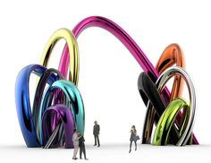 sculpture 10 = 10 commandments by Karim Rashid Arch Model, Karim Rashid, Street Art, Objects, Sculpture, 10 Commandments, Plastic, Design, Other