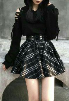 Egirl Fashion, Teen Fashion Outfits, Edgy Outfits, Cute Casual Outfits, Korean Outfits, Mode Outfits, Cute Fashion, Korean Fashion, Fashion Skirts