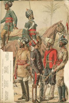Mounted on horse- Daffadar Cavalry of the Hyderabad Contingent. front row L to R… Colonial India, British Colonial, History Of India, British History, Indian Police Service, Bengal Lancer, Army Pics, Army History, Indiana