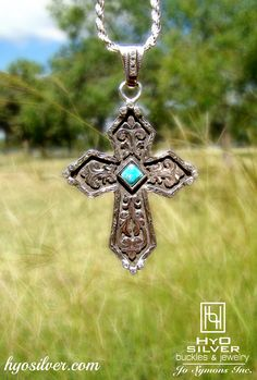 BLUE TURQUOISE IS BACK IN STOCK!!! Stop by hyosilver.com to view this beauty & more. Shown here: RRP017-BT, $325.