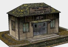 Santa Fe Grains & Goods Warehouse Paper Model - by Papermau Download Now!        Here is the Santa Fe Grains & Goods Warehouse Paper Model, ready for download! This is perfect for Dioramas, Train Sets, RPG and Wargames.