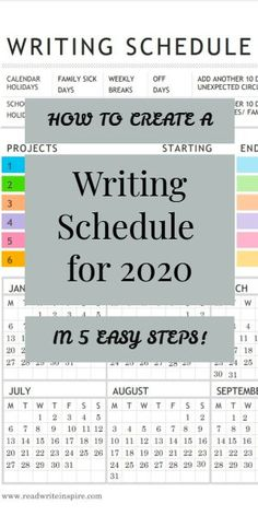 Having a writing schedule at the beginning of the year will give you clarity about the number of days when you would write in that year. This will help you understand the number of projects that you can realistically handle in that particular year. Fiction Writing, Writing Advice, Writing A Book, Writing Prompts, Academic Writing, Writing Ideas, Block Scheduling, Writer Tips, W 6