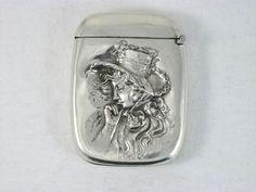 Antique La Pierre Sterling Silver Repousse Woman Hat Match Safe Vesta Circa 1880 in Antiques   eBay