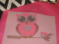 Diy Iron on Transfer of Owl Sitting on Branch in Hot by cthorses66, $6.99