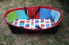 Moses basket w/ Kona Modern Quilts fabric