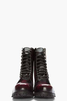 UNDERGROUND burgundy Wulfrun 10-Eye Steel Toe boot