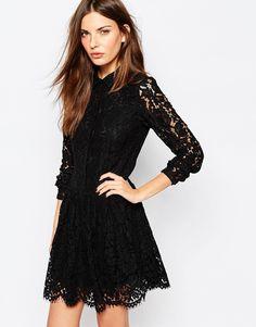 Image 1 of Vila - Shirt Dress Lace