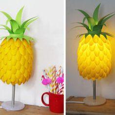 DIY Pineapple Lamp