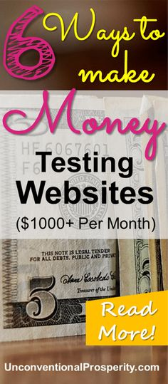 Thanks for posting these ways to make money by testing websites! I have tried all of these websites and they are awesome and pay really well! If you are looking for some ways to make extra money online check these ideas out!