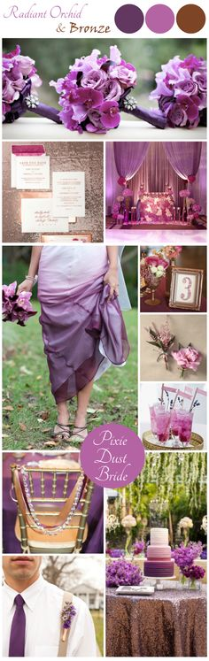 Bronze and Orchid Wedding Inspiration Board // Pixie Dust Bride