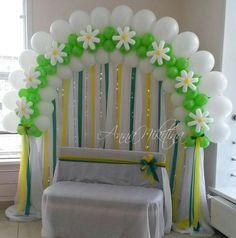 arco verde y blanco