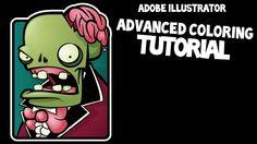 Zombie Cartoon: Advanced Coloring Techniques in Adobe Illustrator