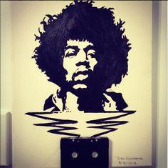 """Acrylic Painting of Jimi Hendrix"""