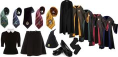 """Generic Girls Hogwarts Uniform"" by kndyyoda ❤ liked on Polyvore"