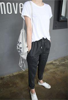 Black & White Casual Korean Style