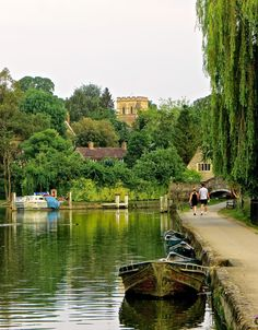 Summer Evenings on the Isis (Thames). Old Iffley Village.