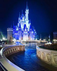 ✼ . アナ雪カラーのシンデレラ城が綺麗✨ #Disney#TokyoDisneyland#TokyoDisneyResort#frozenfantasy#frozen#ディズニー#東京ディズニーランド#東京ディズニーリゾート#アナ雪#シンデレラ城#フローズンファンタジー