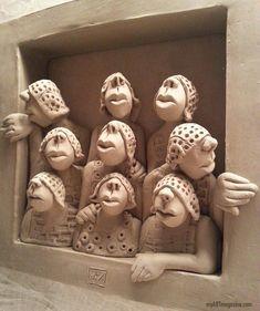 Clay sculpture fantasy woman by yuanxing liang Pottery Sculpture, Sculpture Clay, Ceramic Clay, Ceramic Pottery, Clay Projects, Clay Crafts, Ceramic Figures, Clay Figures, Sculptures Céramiques