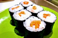 Salmon and Seaweed Sushi Recipe Salmon Roll, Salmon Sushi, Edible Seaweed, Fresh Sushi, Pickled Radishes, Sea Vegetables, Steamed Buns, Always Hungry, Sushi Recipes