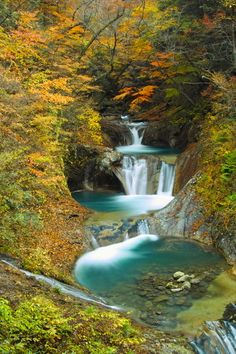 Nanatsukama Godan'notaki 七ツ釜五段の滝 Nanatsugama waterfall in Japan