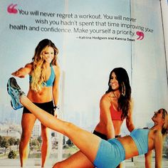 you will never regret a workout!