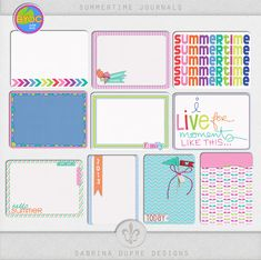 Summertime Journal Cards by Sabrina Dupre Designs at The Lilypad