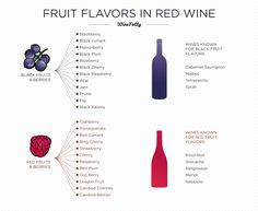 Flavors in Red Wine Infographic