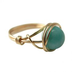 Amazonite Ring - 14kt Gold-Filled. #ring #style #jewelry  9thelm.com