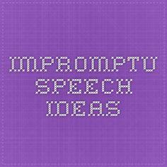 Impromptu speech about nursing services