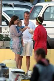 this is such a cute family moment Dasha Zhukova Roman Abramovich Aaron puppy yacht