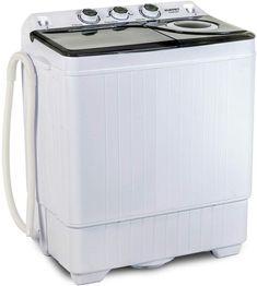 Enjoy exclusive for KUPPET Compact Twin Tub Portable Mini Washing Machine Capacity, Drain Pump/Semi-Automatic (White&Gray) online - Onlineshoppingoffers Compact Washing Machine, Mini Washing Machine, Washing Machines, Compact Laundry, Spin Dryers, Drain Pump, Washer Machine, Washer And Dryer, Tub